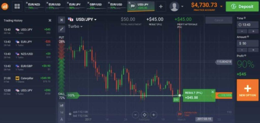 حساب تجريبي مجاني 10،000 دولار - منصة الخيارات الثنائية IQ Option 2020